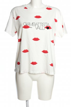 Giambattista Valli x H&M T-Shirt weiß-rot Motivdruck Casual-Look