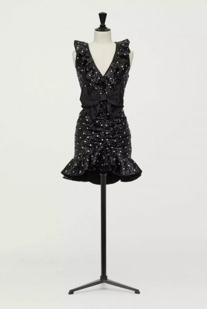 GIAMBATTISTA VALLI X HM Cocktailkleid BlACK SEQUIN DRESS Größe 34