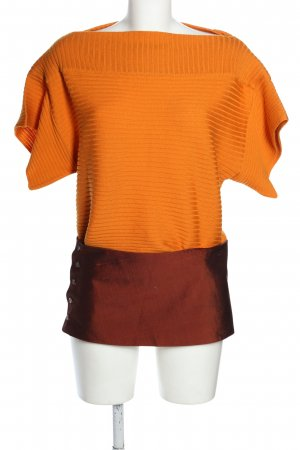 Gianfranco Ferré Maglione a maniche corte arancione chiaro-bronzo stile casual