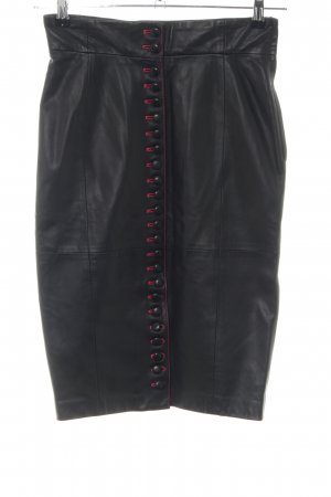 Gianfranco Ferré Leather Skirt black-red casual look