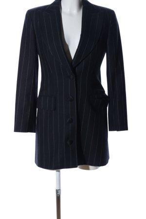 Gianfranco Ferré Long-Blazer schwarz-hellgrau Streifenmuster Business-Look