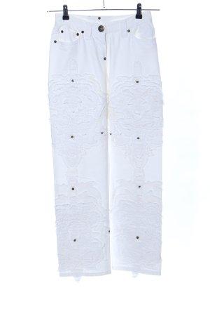 Gianfranco Ferré Jeans a gamba dritta bianco stile casual