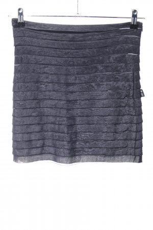 Gianfranco Ferré Warstwowa spódnica jasnoszary Wzór w paski W stylu casual