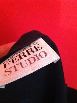 Gianfranco Ferré Falda larga negro tejido mezclado