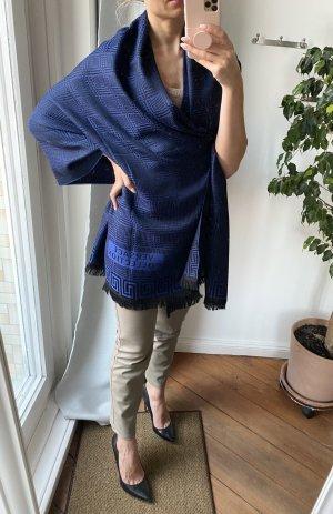 Giani Versace Schal Stola Wolle schwarz blau