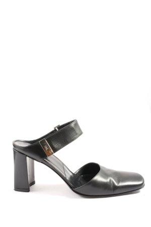 Gianmarco Lorenzi Chaussure à talons carrés noir élégant