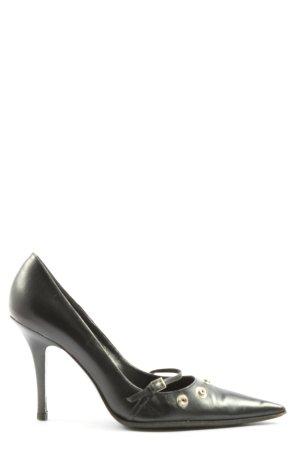 Gianna Meliani Buty z zabudowanym przodem czarny W stylu casual