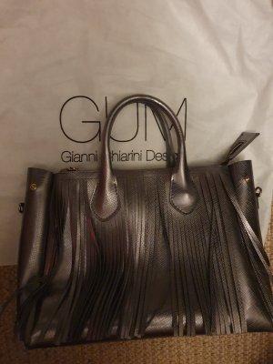 Gianni chiarini Bolso de flecos gris antracita