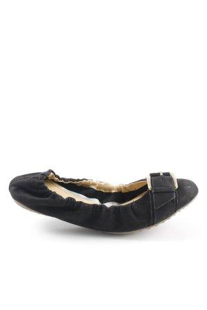 Gianni Gregori faltbare Ballerinas schwarz-goldfarben Elegant