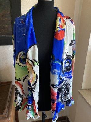 Gianni Versace Blusa in seta multicolore
