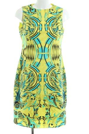 Gianni Versace Etuikleid blassgelb-türkis abstraktes Muster Casual-Look