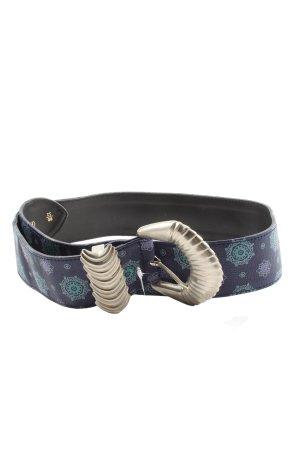 Gianni Versace Cinturón de cuero de imitación estampado con diseño abstracto