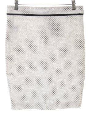 Gianni Versace Minirock weiß-schwarz Punktemuster Casual-Look