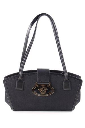 Gianni Versace Schultertasche schwarz Motivdruck Casual-Look