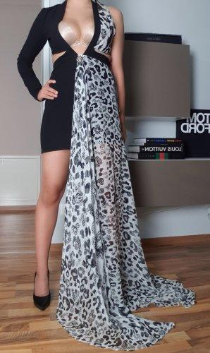 VERSUS Versace Cut out jurk wit-zwart