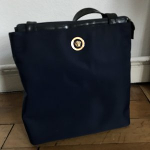 Gianni Versace Borsa shopper blu scuro