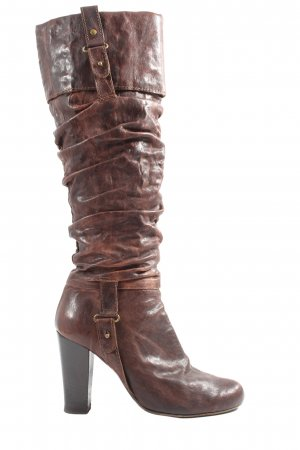 Gianrico Mori High Heel Boots brown casual look