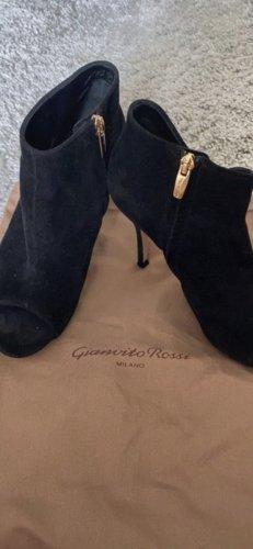 Gianvito rossi Buty z krótką cholewą z odsłoniętym palcem czarny