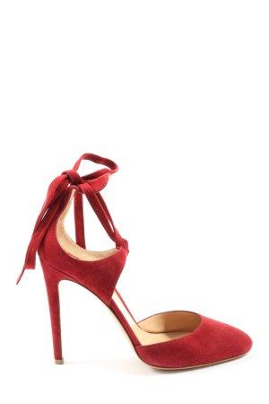Gianvito rossi Sandales à talon haut rouge élégant