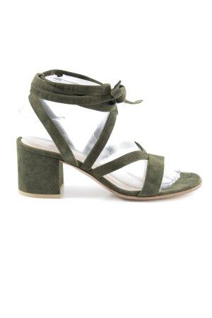 Gianvito rossi Riemchen-Sandaletten khaki schlichter Stil