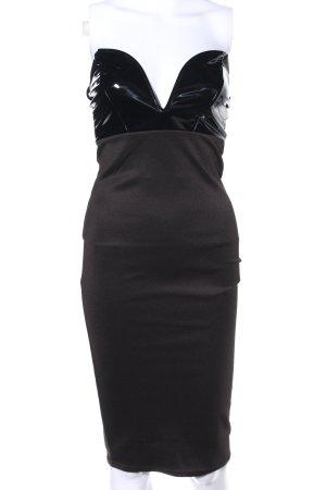 Vestido a media pierna negro elegante