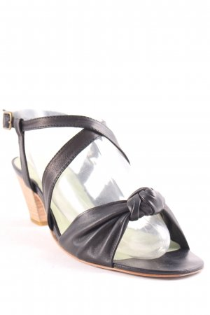 gidigio High-Heeled Toe-Post Sandals black casual look