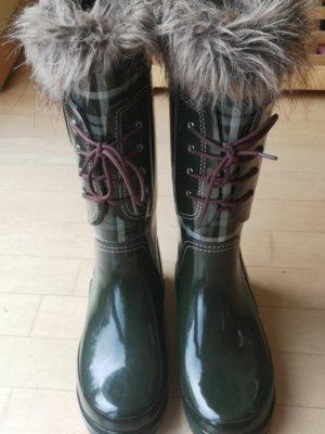 Giesswein Wellington laarzen groen-grijs