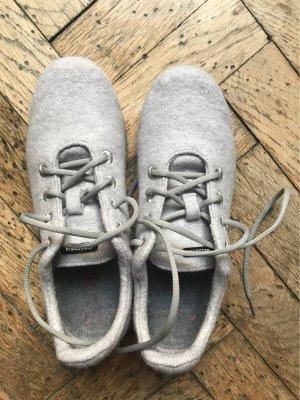 Giesswein Sneakers met veters grijs Merinowol