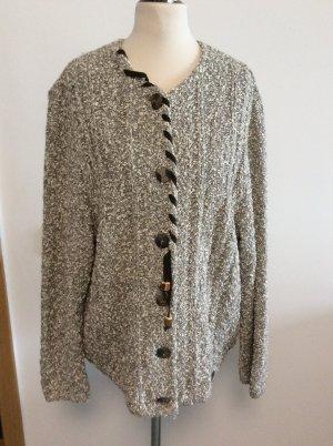 Giesswein Cardigan a maglia grossa grigio chiaro-bianco sporco