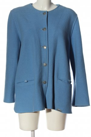 Giesswein Veste en laine bleu style décontracté