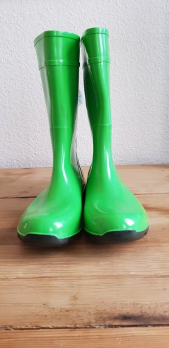 Ladeheid Gumowe buty zielony neonowy