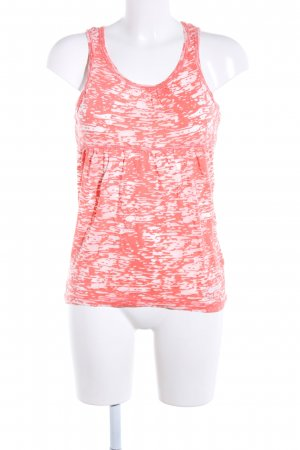 Giga Dx Tanktop rot-weiß abstraktes Muster Casual-Look