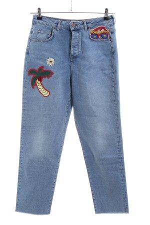 Gigi Hadid x Tommy Hilfiger Hoge taille jeans blauw straat-mode uitstraling