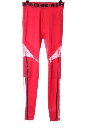 Gigi Hadid x Tommy Hilfiger Sporthose rot-schwarz Schriftzug gedruckt