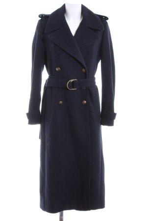 Gigi Hadid x Tommy Hilfiger Cappotto in lana blu scuro-oro stile professionale