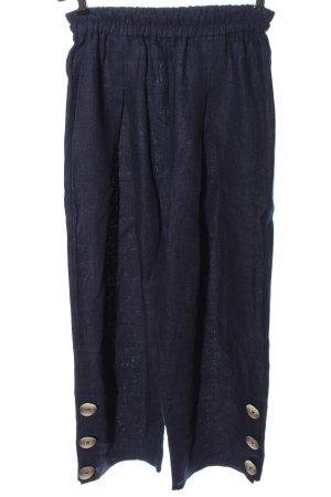 gigi Pantalon en lin bleu style décontracté