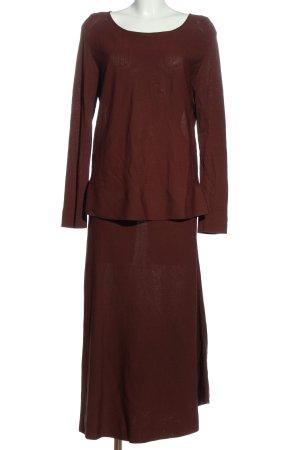 Gigue Dzianinowy podwójny zestaw  brązowy W stylu casual
