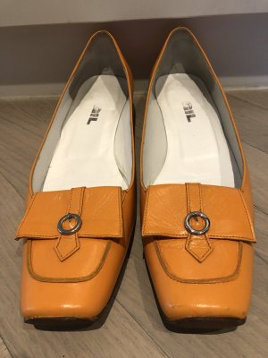 Don Gil Backless Pumps orange