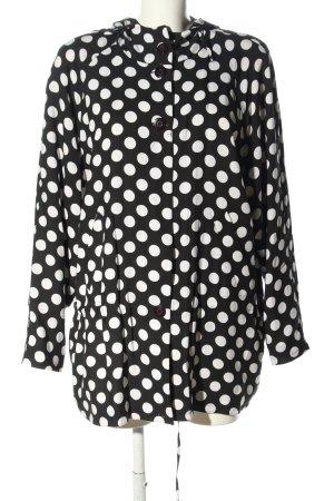 Gil Bret Giacca con cappuccio nero-bianco stampa integrale stile casual