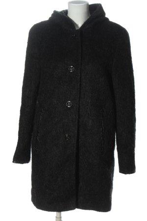 Gil Bret Hooded Coat black flecked casual look