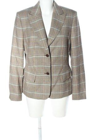 Gil Bret Korte blazer bruin-turkoois geruite print zakelijke stijl