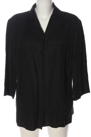 Gil Bret Lniana bluzka czarny W stylu biznesowym