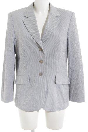 Gil Bret Unisex blazer grijs-wit gestreept patroon elegant