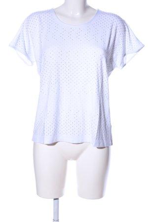 Gil & Joy Top extra-large blanc-gris clair style décontracté