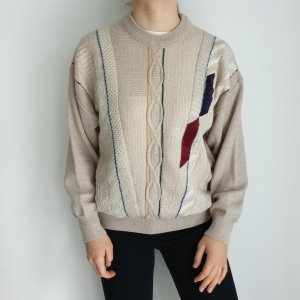 Gilberto 52 Oversize Pullover Hoodie Pulli Sweater Strickjacke Top Oberteil True Vintage
