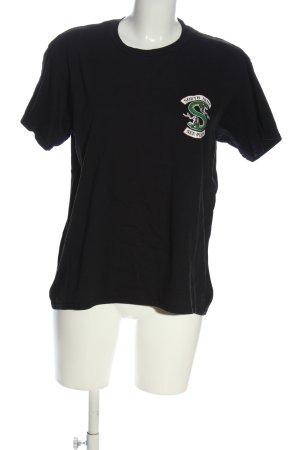 Gildan Print Shirt black themed print casual look