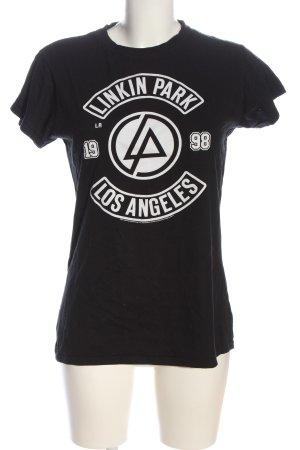 Gildan Print Shirt black-white themed print casual look