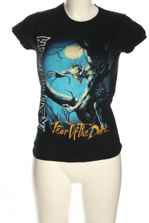 Gildan Print Shirt black-blue themed print casual look