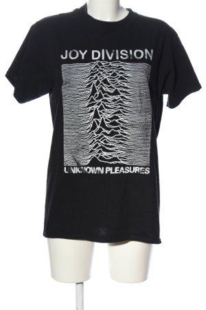 Gildan Print-Shirt schwarz-weiß Motivdruck Casual-Look