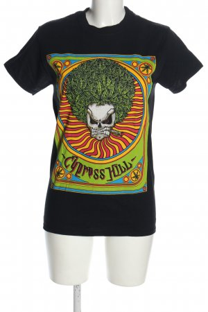 Gildan Print Shirt black-green themed print casual look